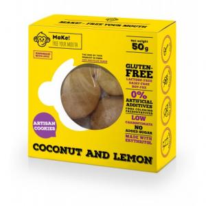 MaKe! Kokosovo-citrónové bezlepkové sušenky 50 g