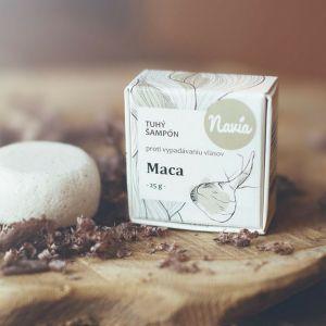 Navia Přírodní tuhý šampón s kondicionérem Maca proti vypadávání vlasů XXL 50 g